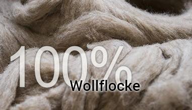 100% Wollflocke