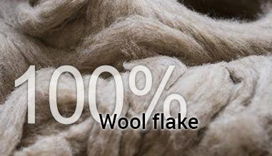 100% wool flake